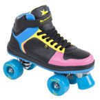 Rookie Hype Hi Top Trainer Black/Blue/Pink/Yellow
