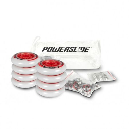 Powerslide - One 100mm/82a + Abec 5, 8mm Spacers (8 szt.)