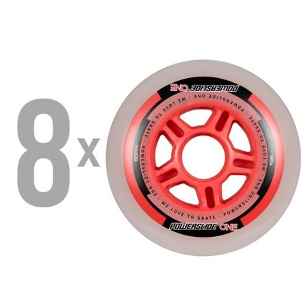 Powerslide - One 90mm/82a + Abec 5, 8mm Spacers (8 szt.)